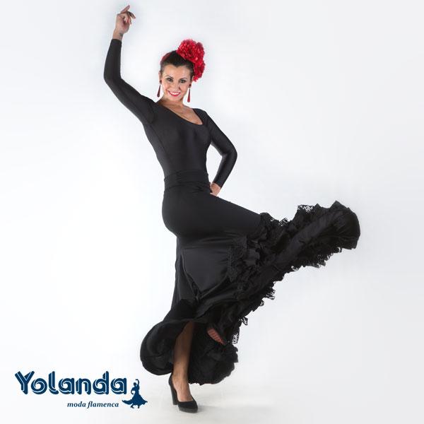 Falda Baile Vuelo y Volantes-Yolanda Moda Flamenca
