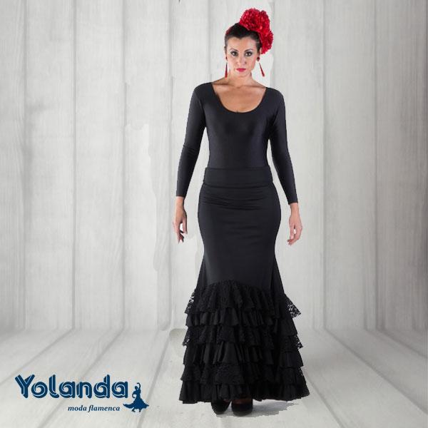 Falda Baile Vuelo y Volantes - Yolanda Moda Flamenca