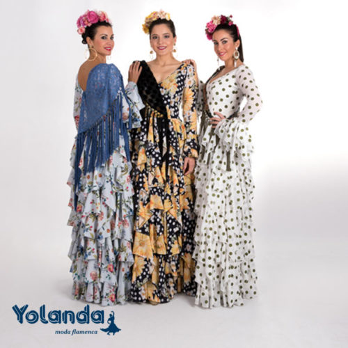 Traje Flamenca Nieves - Yolanda Moda Flamenca