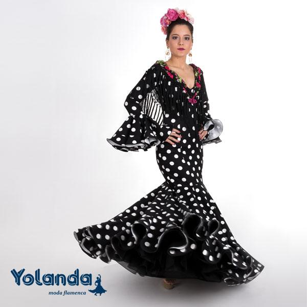 Traje Flamenca Blanca - Yolanda Moda Flamenca