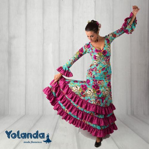 Vestido Baile Tangos - Yolanda Moda Flamenca