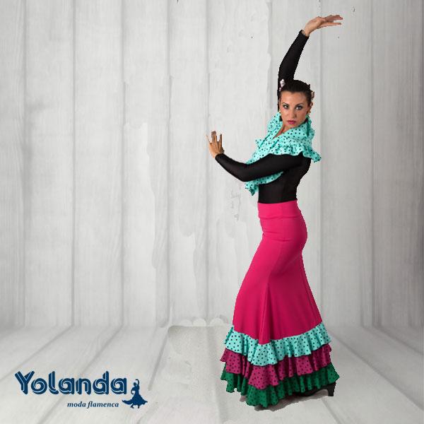Falda Baile Malagueñas - Yolanda Moda Flamenca