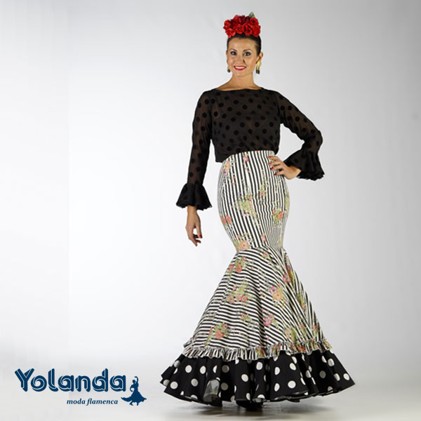 Falda Flamenca Patios - Yolanda Moda Flamenca