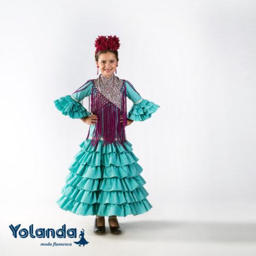 Traje Flamenca Niña Sauce - Yolanda Moda Flamenca