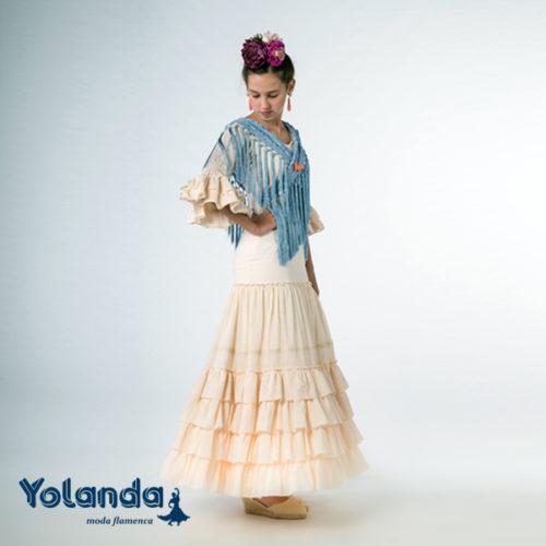 Traje Flamenca Niña Trebol - Yolanda Moda Flamenca