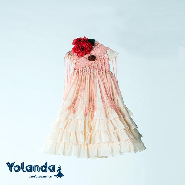 Traje Flamenca Niña Ruibarbo - Yolanda Moda Flamenca
