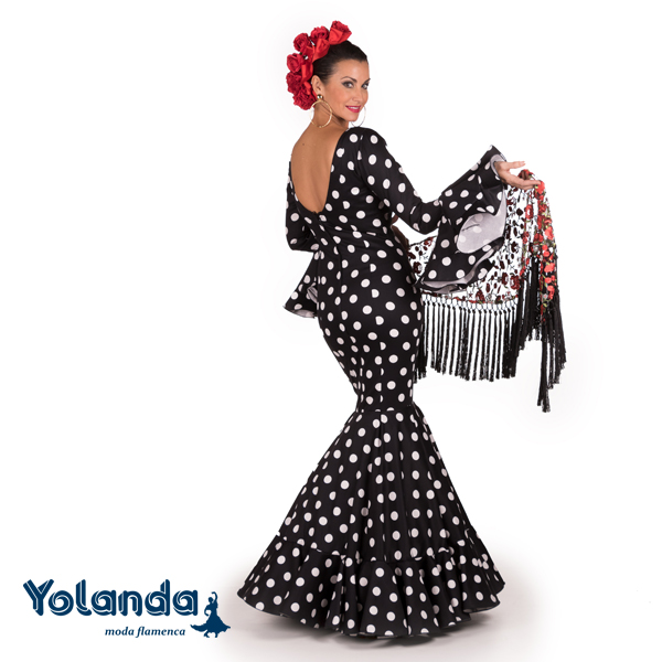 Traje Flamenca Oliva - Yolanda Moda Flamenca