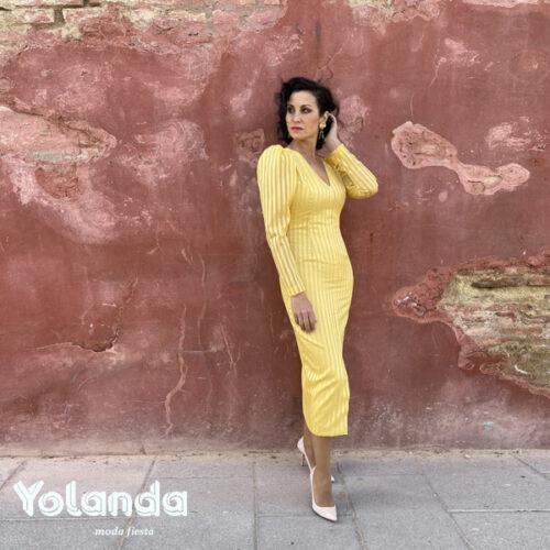 Vestido de Fiesta Coctail amarillo